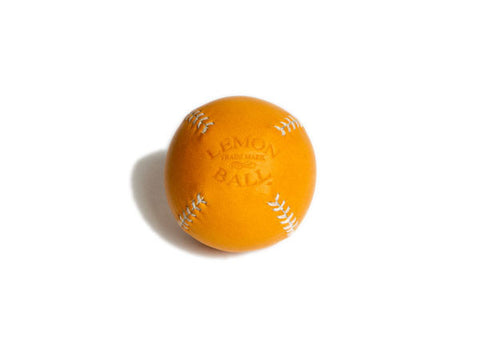 Leather Head Sports Lemon Ball - Tan with White Stitch