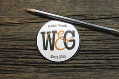 Wood & Graphite Oval Sticker
