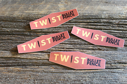 Die Cut Timber Twist Stickers