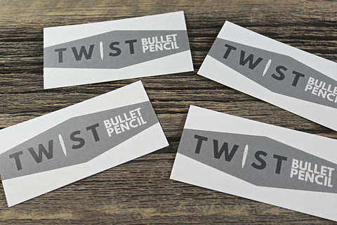 Twist Bullet Pencil Stickers