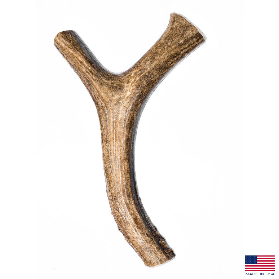 Silver Gate Antlers X-Large Deer Fork Antler Dog Chew - 7-10 Inches