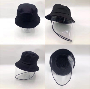 Protective hat with face shield outdoor