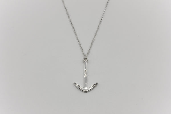 Anchor Chain Necklace Silver