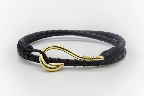 Hook Round Braided Leather Bracelet Osby