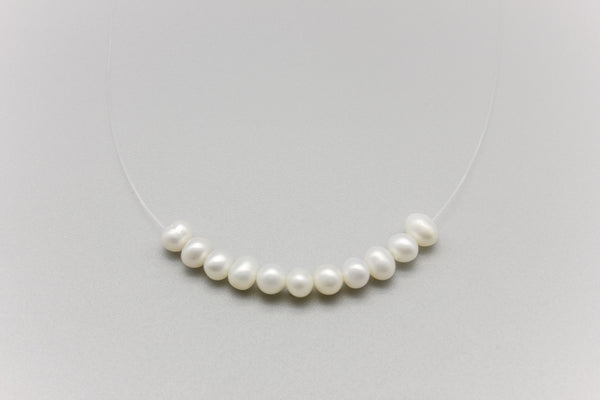 Transparent Freshwater Pearl Necklace