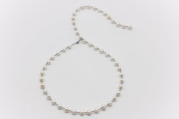 Adjustable Floating Pearls Necklace