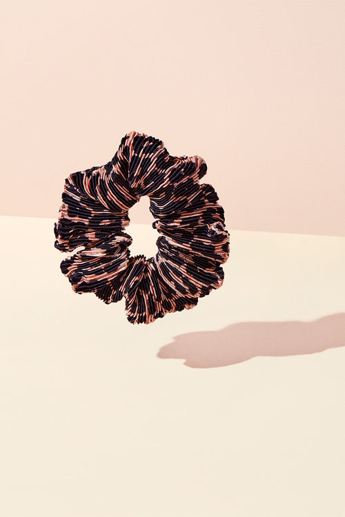 The Hair Edit Leopard Print Ruffle Ribbon Scrunchie Hair Tie Accessory