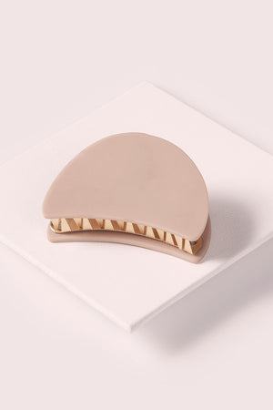 The Hair Edit Mini Blush Pink & Gold Claw Hair Clip Accessory