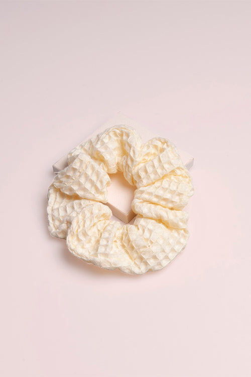 The Hair Edit Hygge Ribbon Waffle Scrunchie