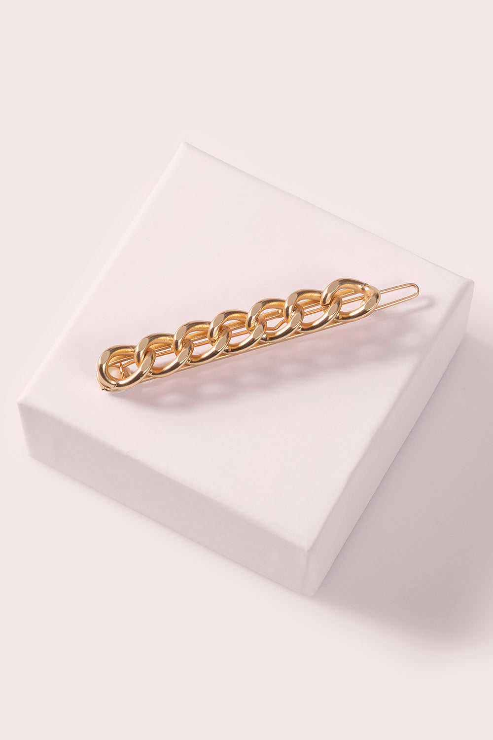 The Hair Edit Soft Gold Chain Link Cable Barrette Hair Clip Accessory