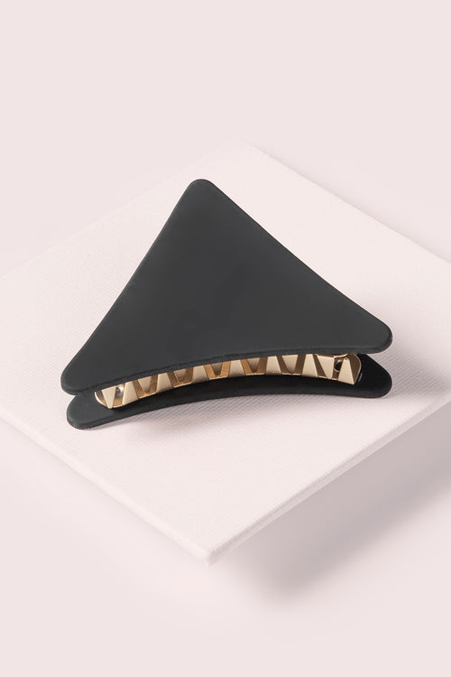 The Hair Edit Black & Gold Graphic Slice Triangle Soft Touch Claw Clip Accessory