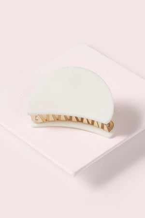 The Hair Edit Cream & Gold Claw Hair Clip Accessory