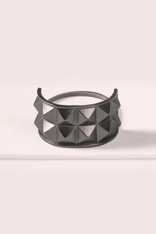 THE-Hair-Accessories-Ponytail-Pyramid-Cuff-Gunmetal