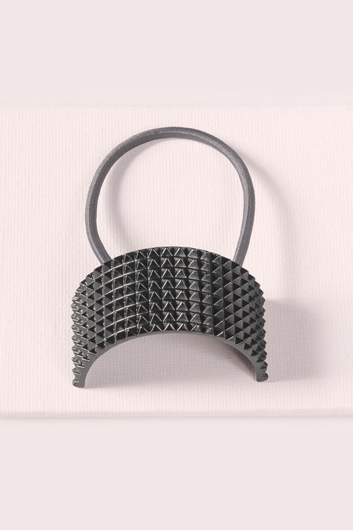 THE-Hair-Accessories-Ponytail-Studded-Cuff-gunmetal