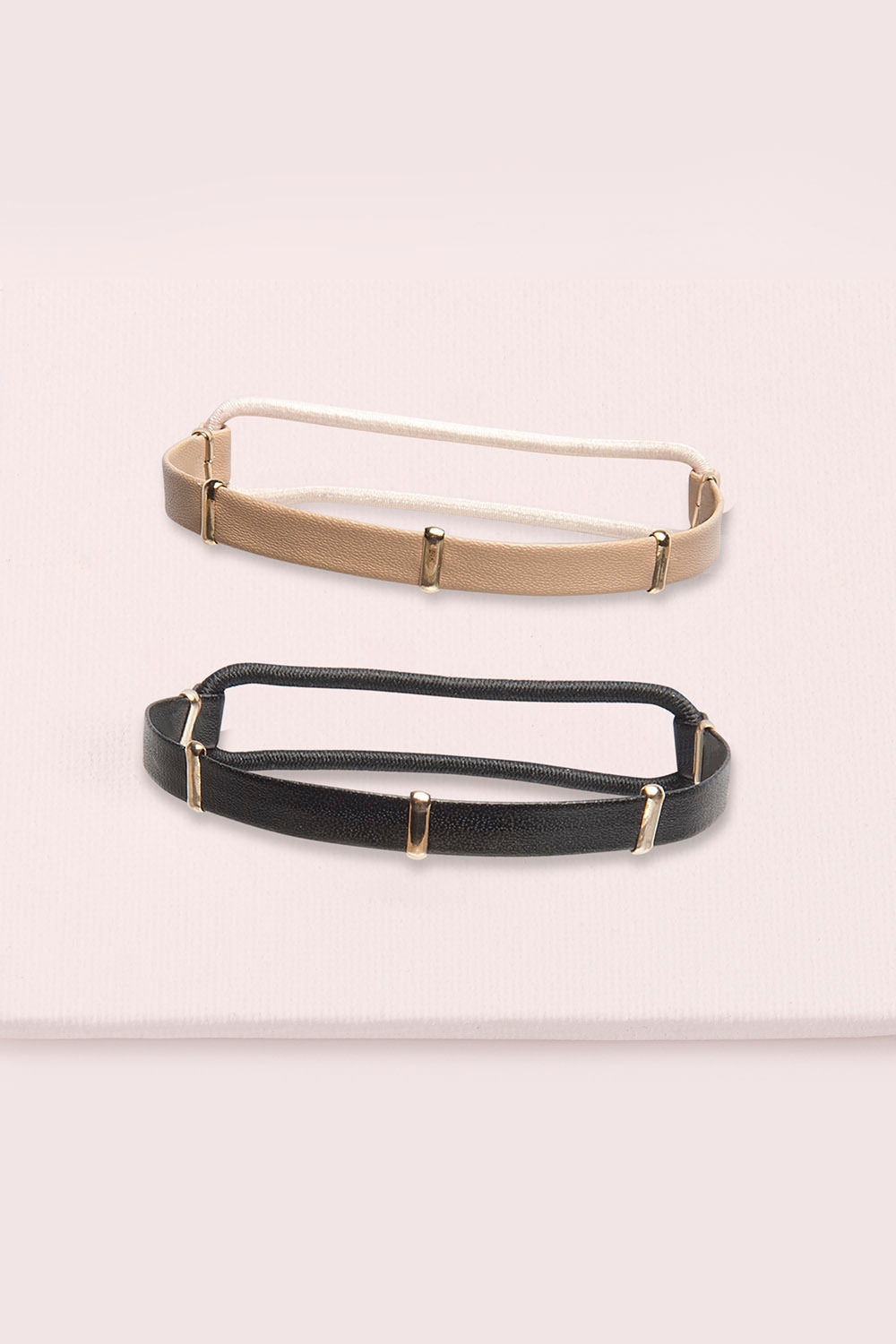 The Hair Edit Wristlet Duo Gold Accented Hair Ties