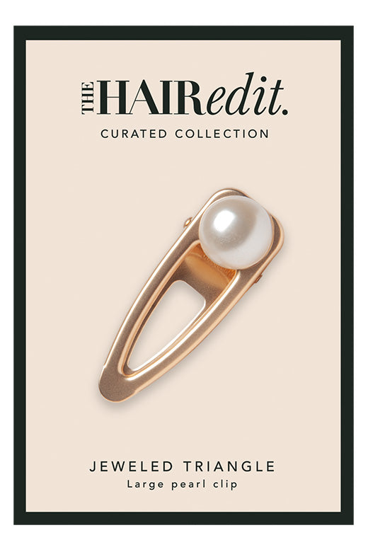 The Hair Edit Pearl Gold Hair Clip Accessory packaging front