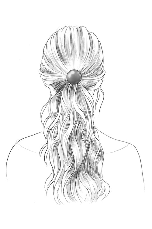 TheHairEdit_S2011_Black_Circular_Metal_HairTie_Illustration