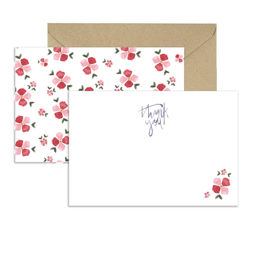 Floral Thank You Cards (Set of 8)