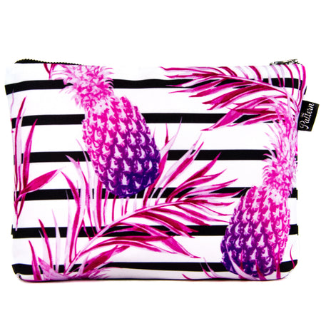 Pineapple Stripe Scene Pouch