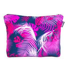 Pink Palms Scene Pouch