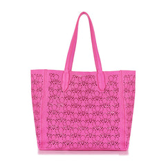 Pattern Signature Leather Bag - Pink