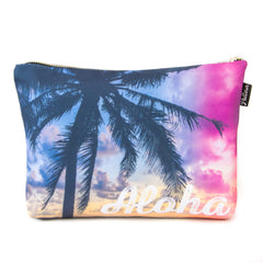 Aloha Sunset Palm Scene Pouch