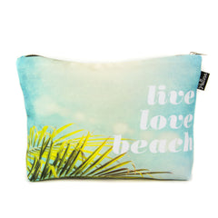 Live Love Beach Scene Pouch