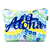 Aloha Blue Hibiscus Scene Pouch