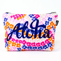 Aloha Pink Hibiscus Scene Pouch