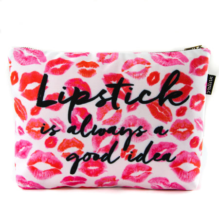 Lipstick is Always a Good Idea Scene Pouch