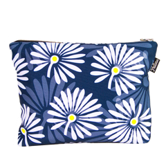 White Flowers Scene Pouch