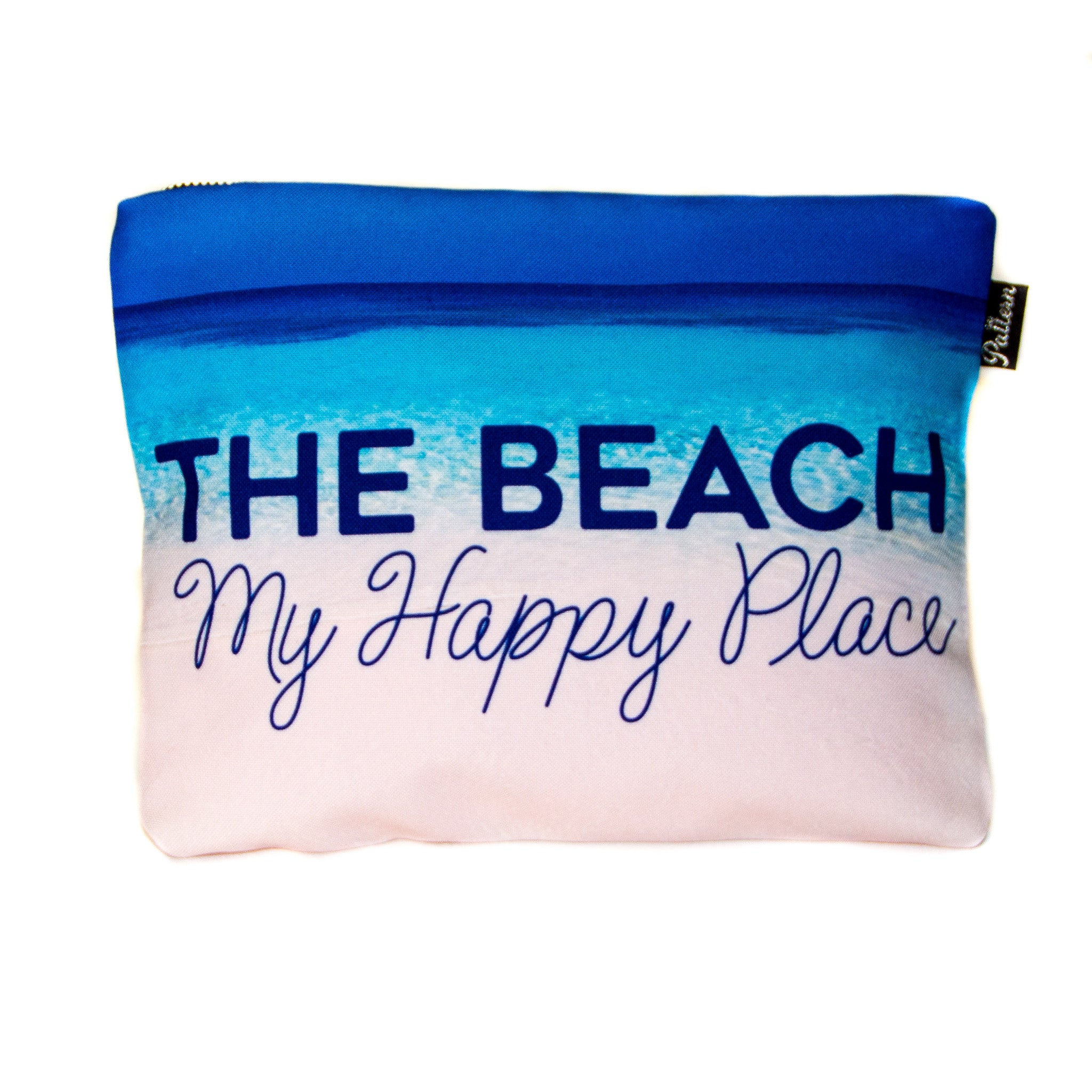 The Beach My Happy Place Scene Pouch