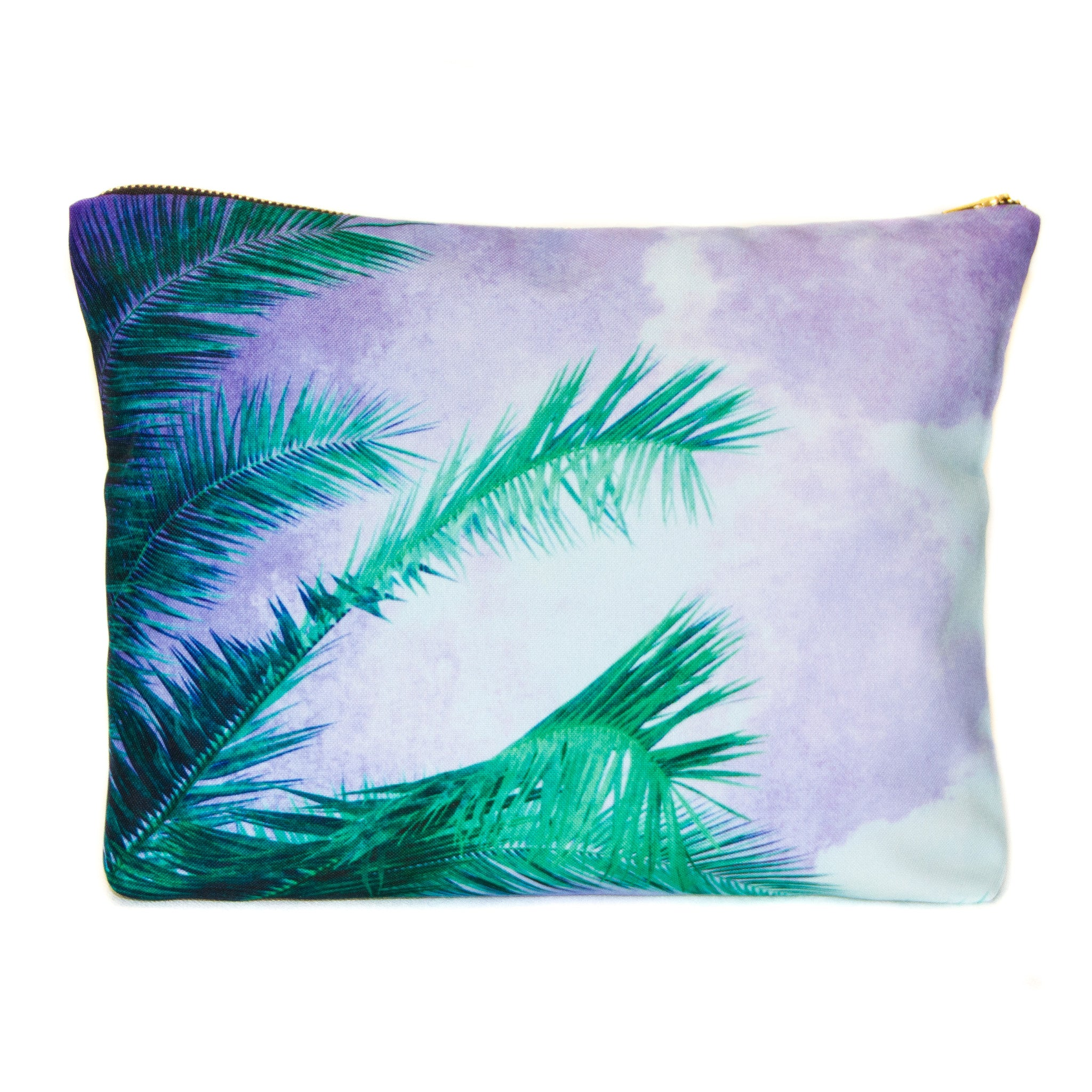 NEW - Large Scene Pouch - Green Palms