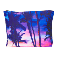 NEW - Large Scene Pouch - Sunset Palms