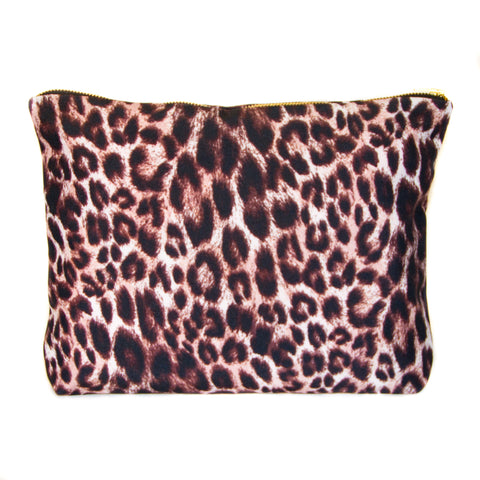 NEW - Large Scene Pouch - Leopard