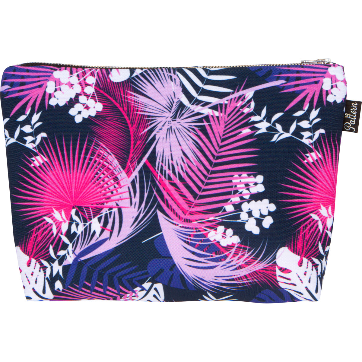 Pink Palm Print Scene Pouch