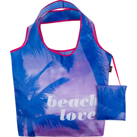 Beach Love Reusable Folding Bag
