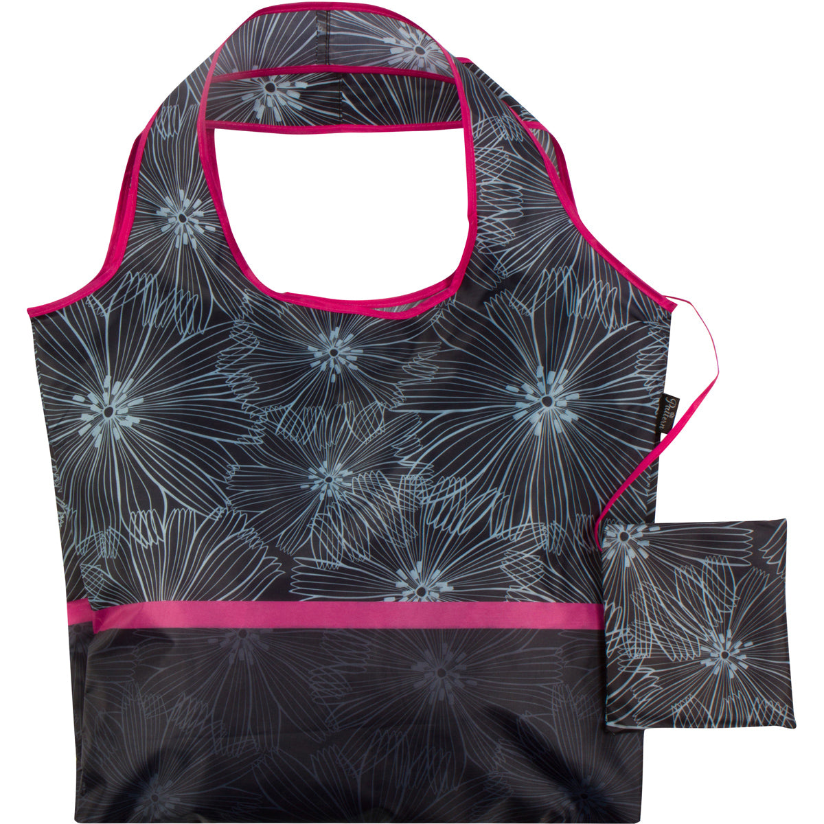 Beach Floral Reusable Folding Bag