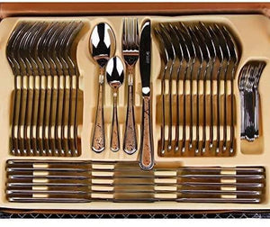 86 Piece Five Star Luxury Flatware Set - Elegance & Splendour