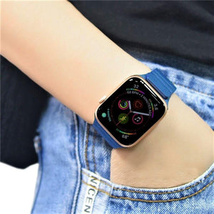 Magnetic Closure Leather Loop Band Compatible With Apple Watch - Elegance & Splendour
