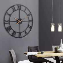 Load image into Gallery viewer, European Industrial Vintage Metal Clock with Roman Numerals - Elegance & Splendour
