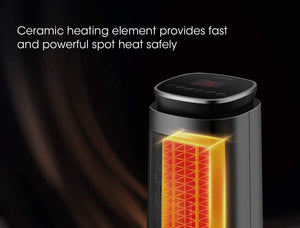 1500W Ceramic Tower Portable Electric Oscillating Heater With Adjustable Thermostat - Elegance & Splendour