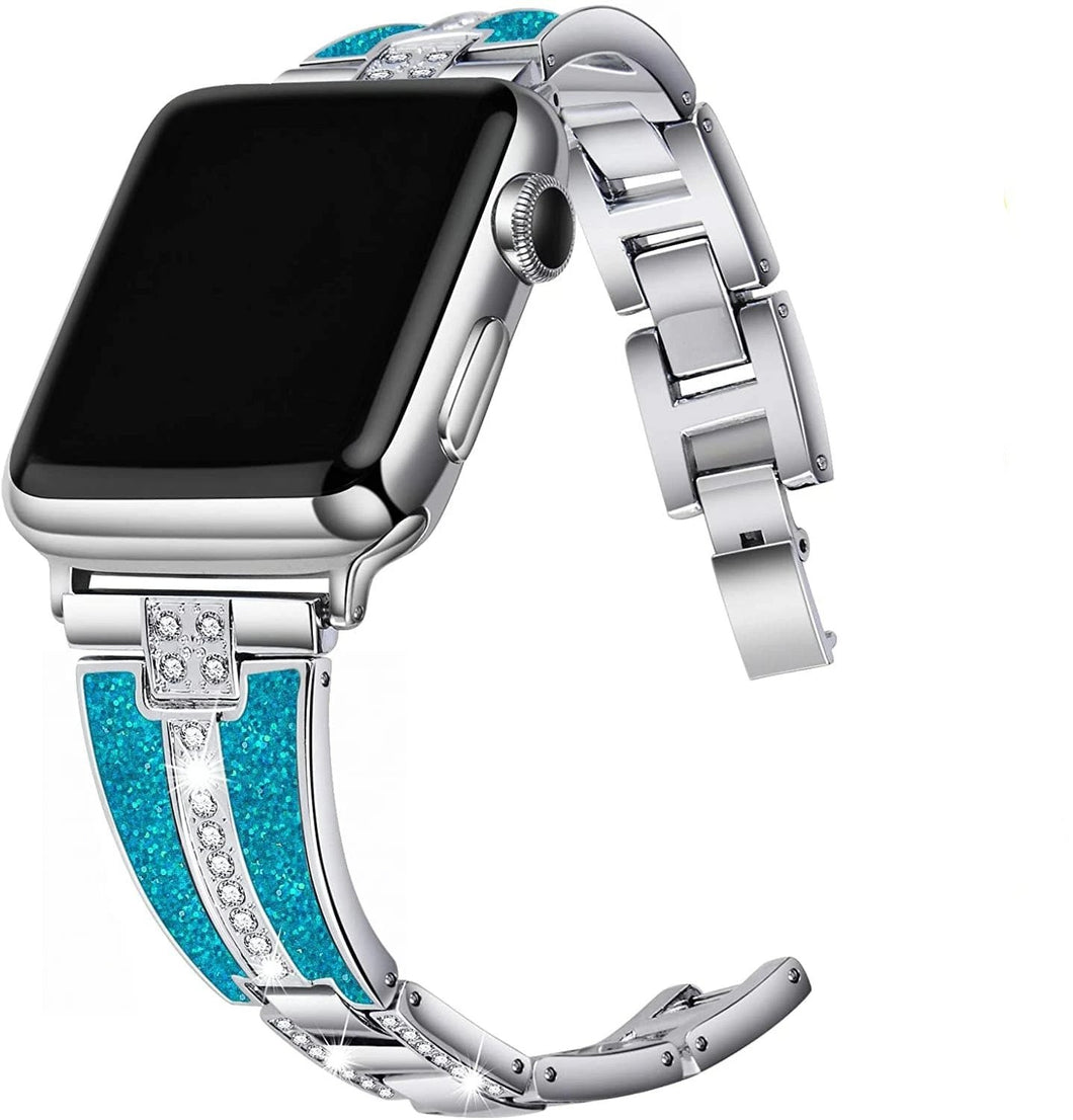 Dazzled Diamonds Elegant Band Compatible With Apple Watch - Elegance & Splendour