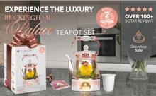 Load image into Gallery viewer, Buckingham Palace Teapot & Flowering Tea Gift - Elegance & Splendour