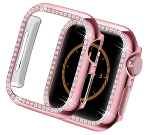 Designer Luxury Band Compatible With Apple Watch With Protective Cover - Elegance & Splendour