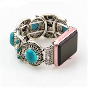 Women Turquoise Bangle Band for Apple Watch - Elegance & Splendour