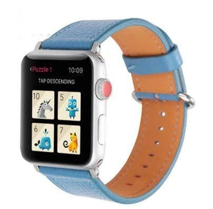 Genuine Leather Replacement Watchband For Apple Watch -8 Vibrant Colors ! - Elegance & Splendour