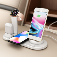 Load image into Gallery viewer, 3 in 1 Wireless Induction Charger Stand for iPhone Air Pods & Apple Watch - Elegance & Splendour