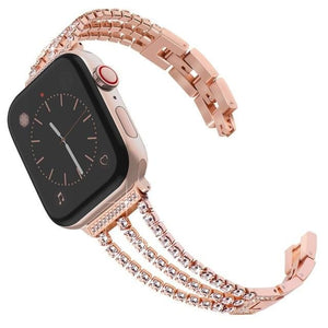 High End Womens Exclusive Diamond Watch Band For Apple Watch