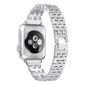 Indulgence Diamond Band Compatible With Apple Watch - Elegance & Splendour